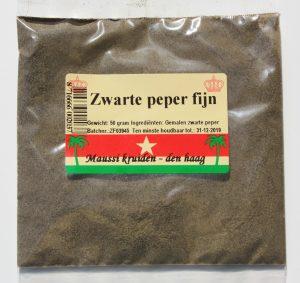 zw. peper fijn 50 gr